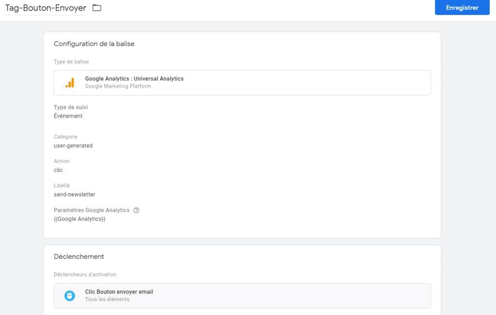 google tag manager-balise clic