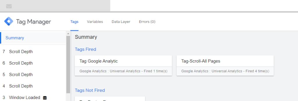 google-tag-manager-scroll-prévisualisation